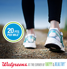 20 Pts per mile by Walgreens At the corner of Happy and Healthy.