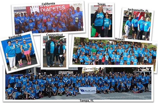 Team Wellcare walks to Stop Diabetes